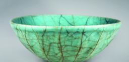 Celadon bowl, Sung Dynasty, heavily crazed