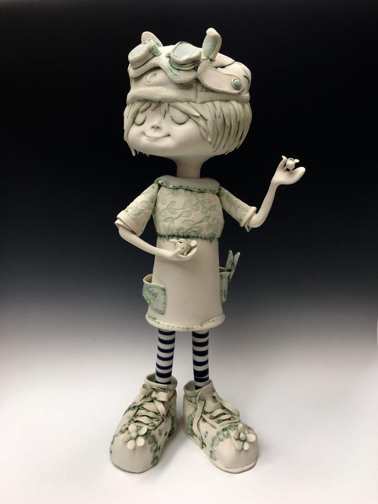 'Heidi dreaming' porcelain H84cm x W39cm x D35cm By Fleur Schell 2017